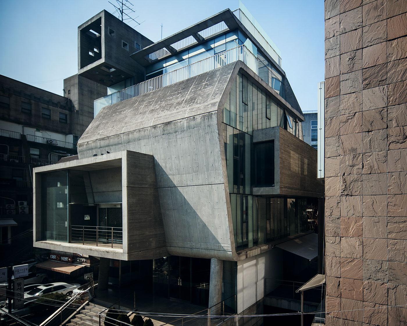 Seoul brutalist revival on behance for Architecture brutaliste