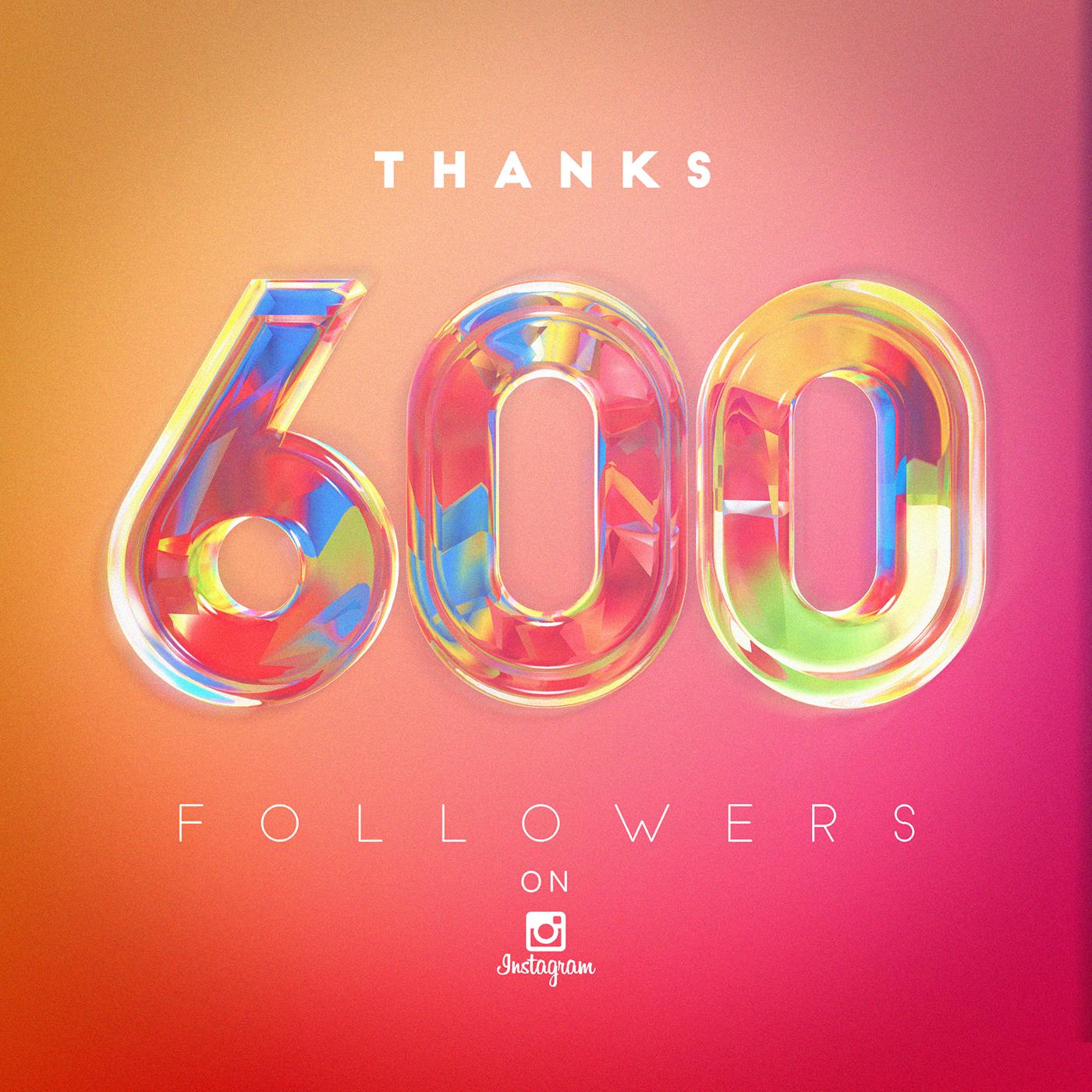 600 followers on instagram on behance 600 Followers On Instagram On Behance
