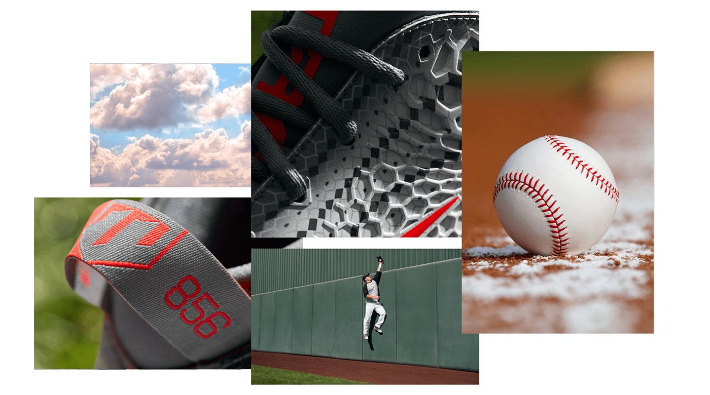 Advertising  art direction  baseball branding  digital Nike nike baseball nike by you Nike ID UI