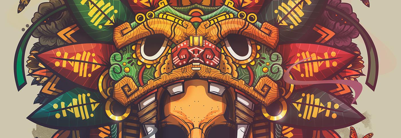 mexico skull color jaguar Flowers monterrey snake eagle