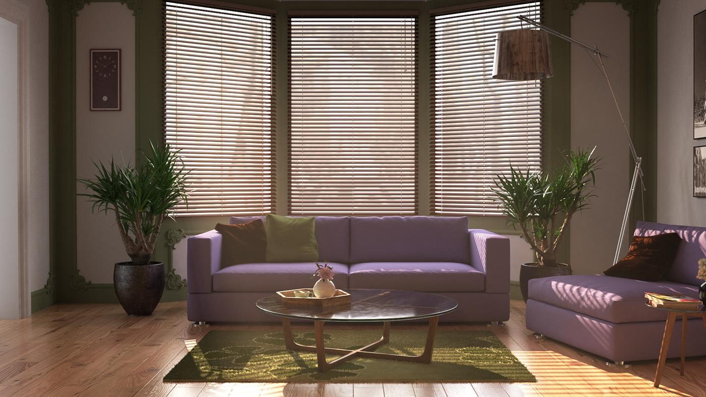 Interior design visualization graphic Render vray 3ds max