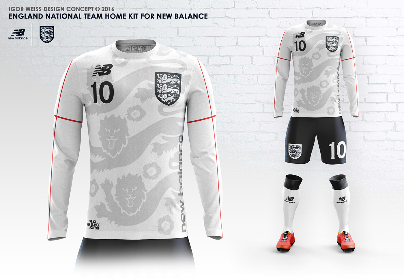 first rate 2e3d8 aeb26 ENGLAND ✕ NEW BALANCE CONCEPT KITS SOCCER-FOOTBALL on Behance