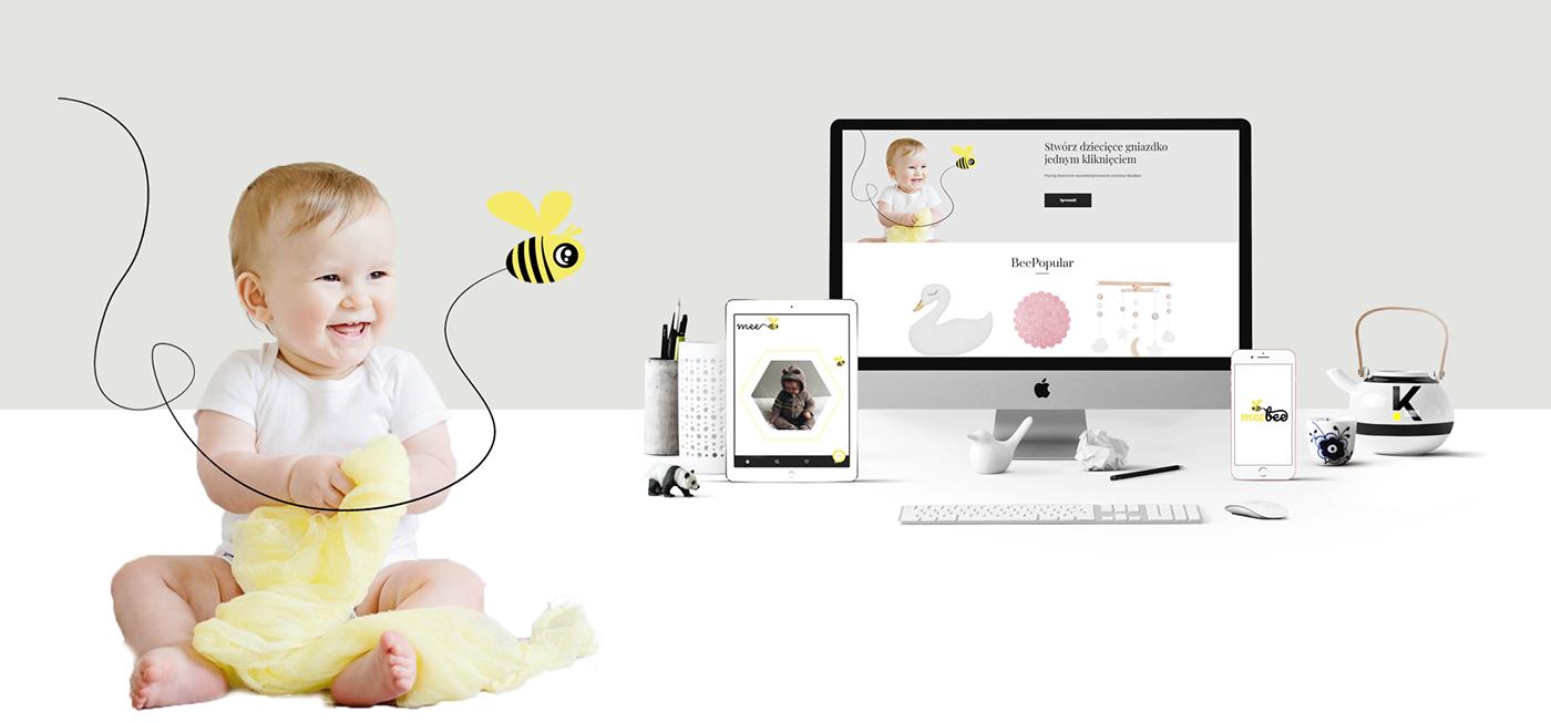 design sklep internetowy children e-commerce furniture interior design