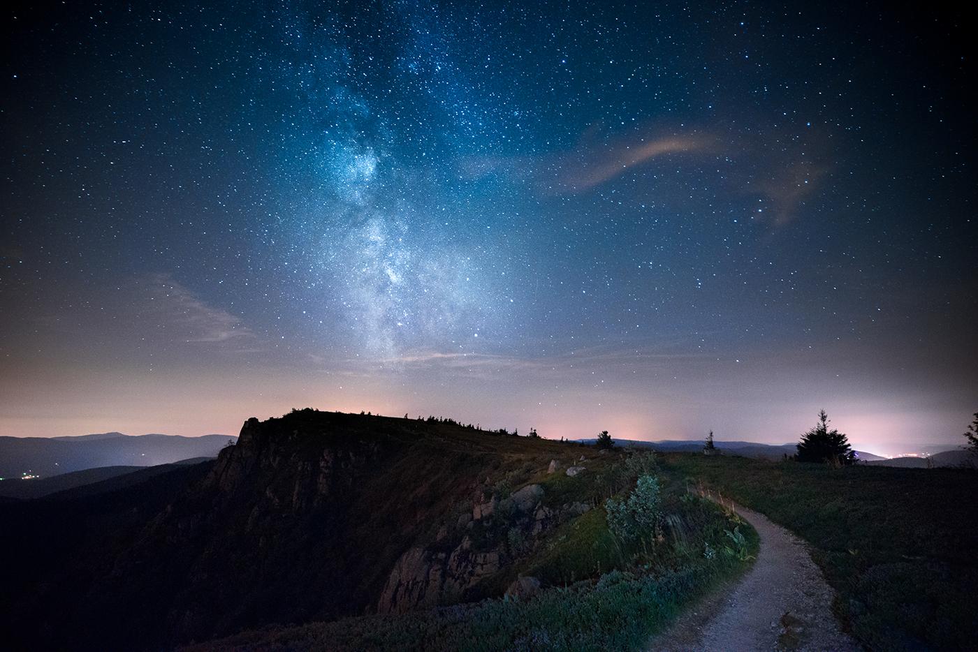 nightscapes Landscape milkyway stars night Vosges france longexposure Nikon