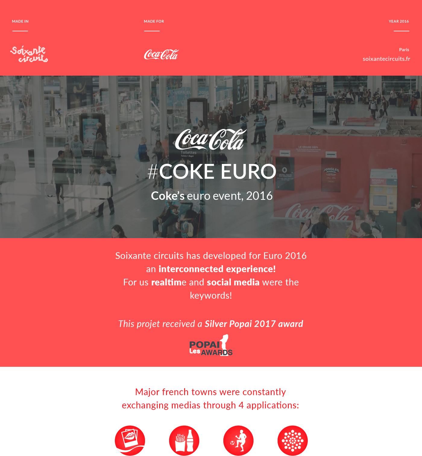 interaction coke euro Photobooth game