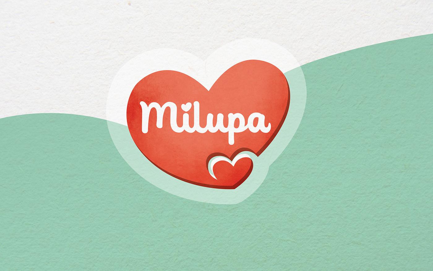 milupa baby Food  Cereal porridge little nutrition ILLUSTRATION  kindness toddler