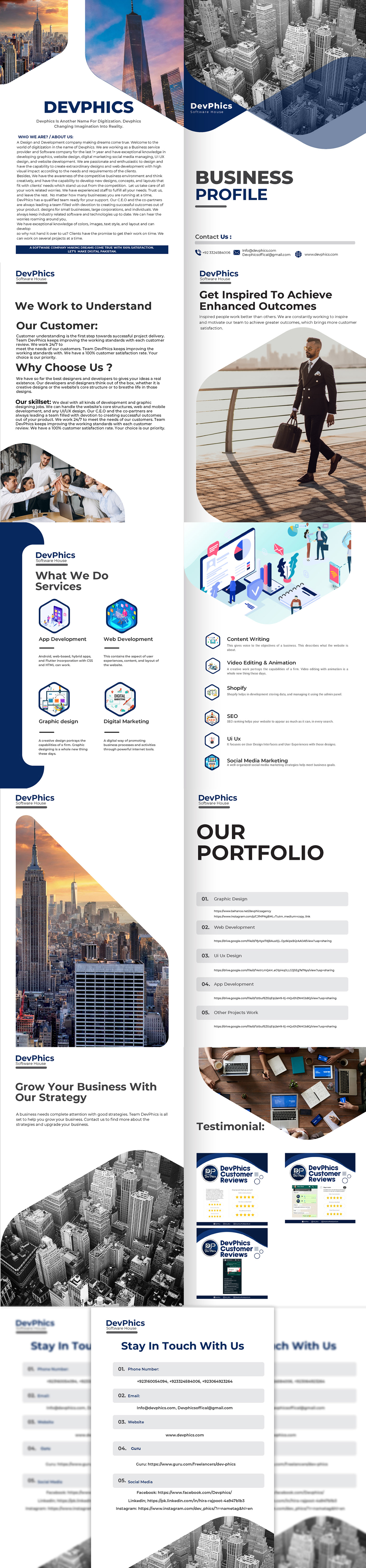 Adobe Photoshop Adobo illustrator business business profile graphic design  portfolio profile build profile template