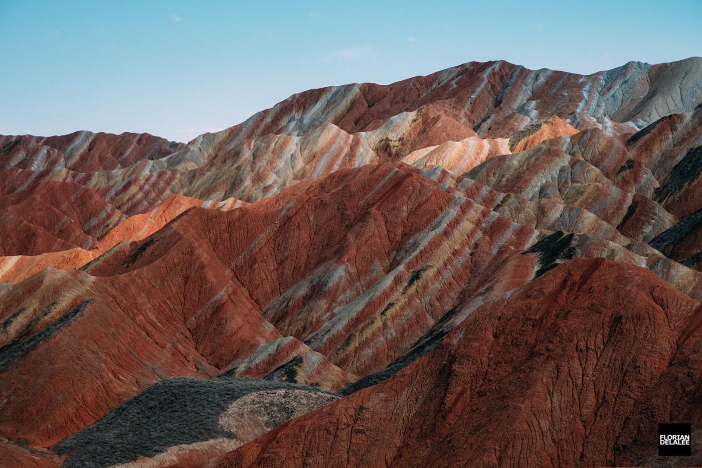 china Danxia Gansu Landform Landscape mountain red-coloured sandstones rock Zhangye
