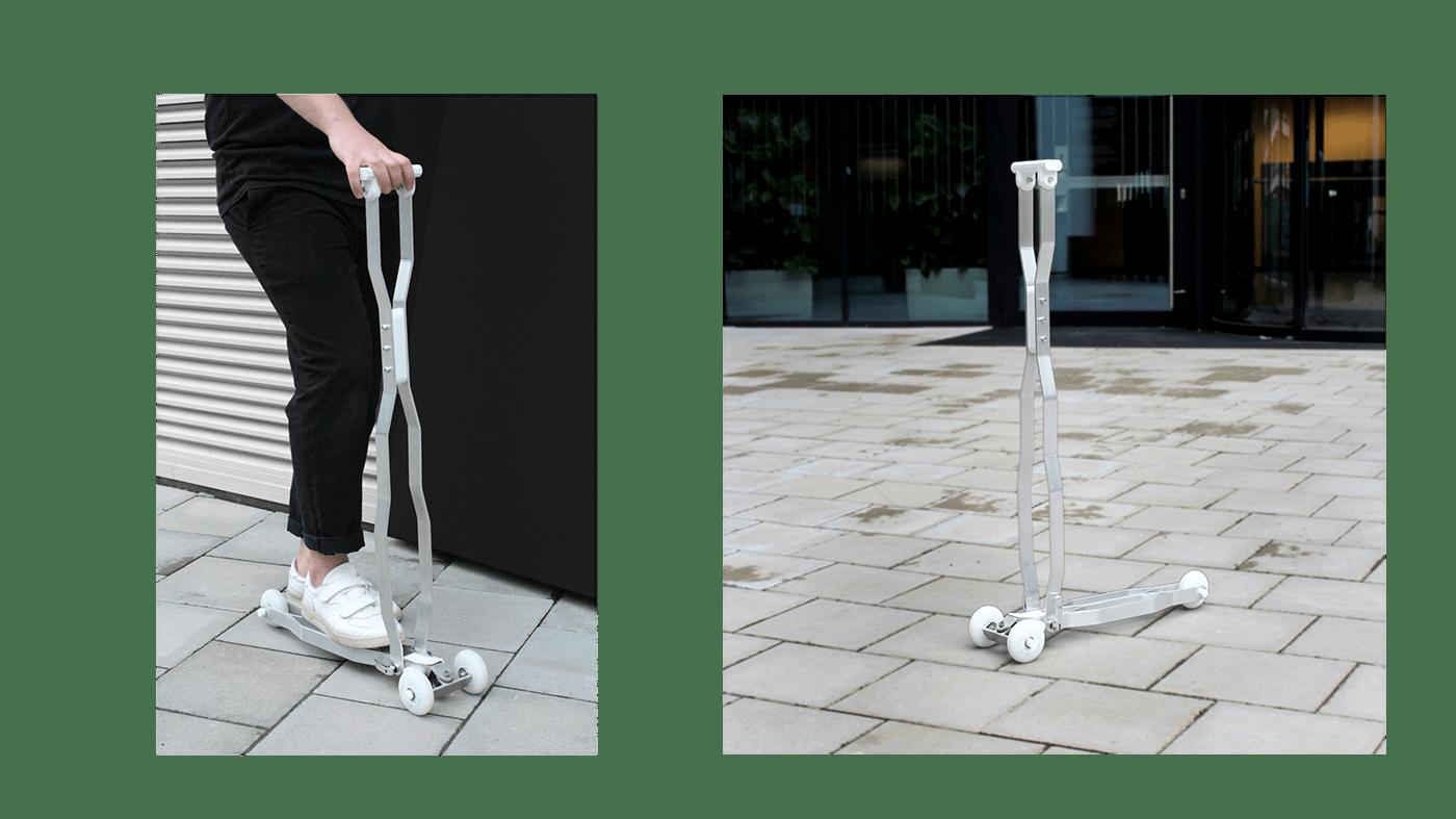 aluminium automotive   city design industrialdesign light organicshape productdesign Scooter transportation