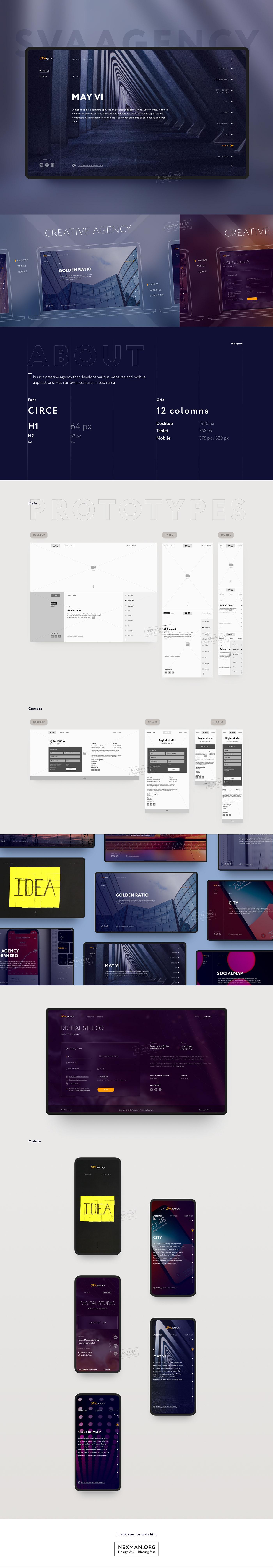 Adaptive agency app creative CRM Figma mobile photoshop prototype