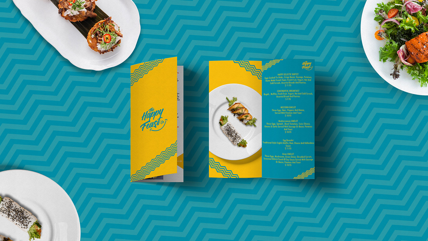 happy feast Startup Farms Fusion Food Food  Restaurant Branding happy Packaging