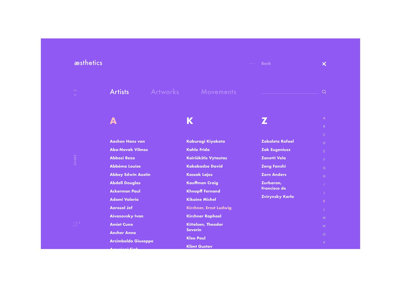 Webdesign UI ux art clean inspiration Paintings interaction aesthetics