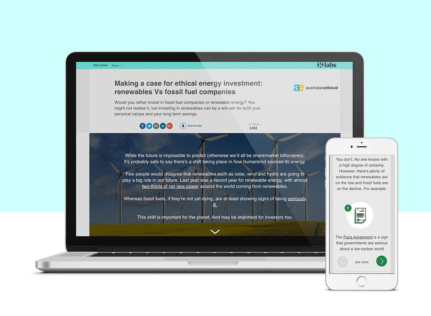Ethical Energy Investment Landing Page On Behance