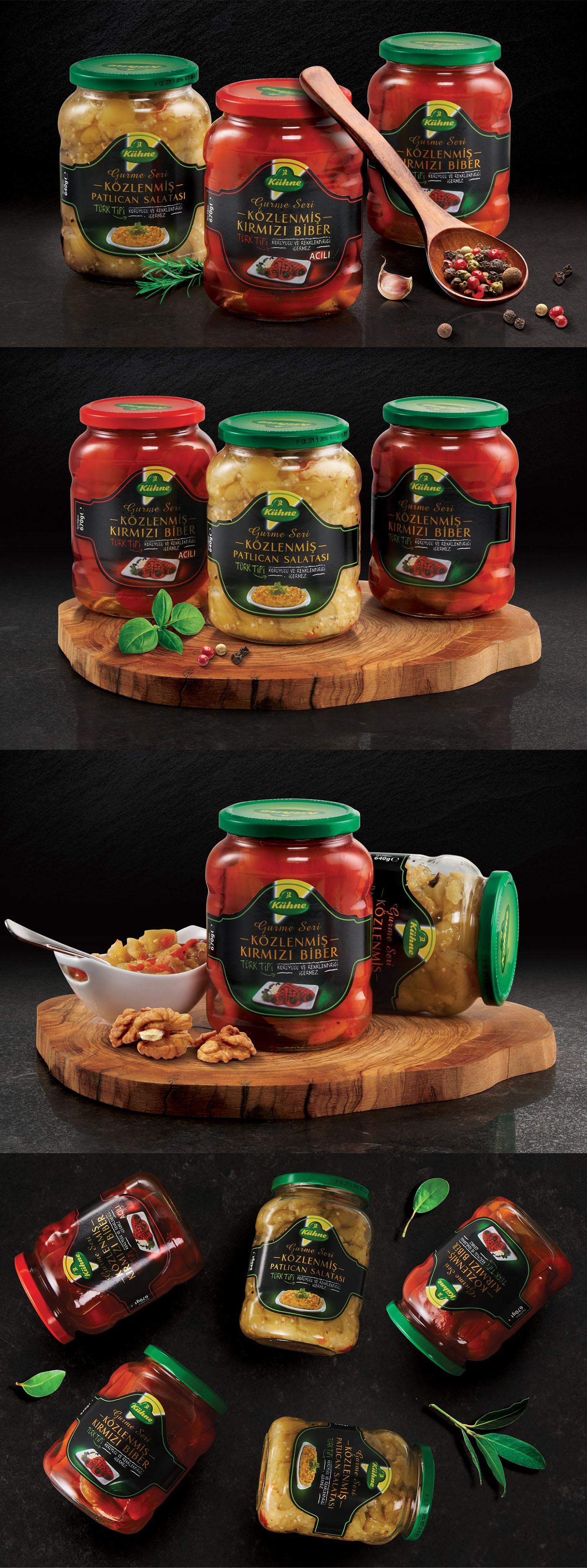 packaging design graphic design  art direction  Photography  ambalaj tasarımı kühne salads sauce gourmet