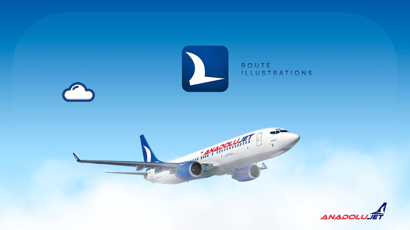 city City Illustratıon desıgn   gif ILLUSTRATION  Landmark Landmark ıllustration Anadolu Jet app icon aviation