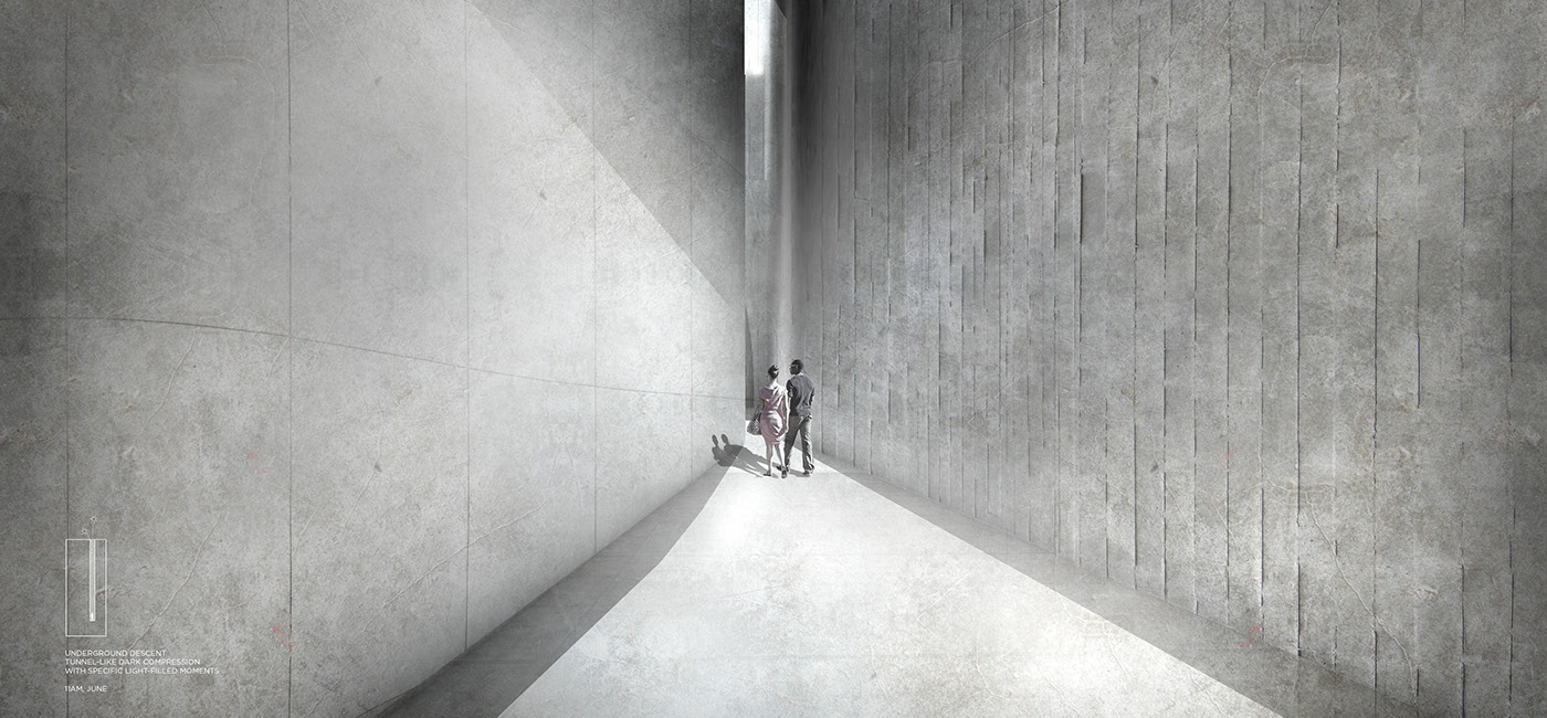 carving light solid Void concrete infrastructure monumental atmosphere Space  architecture