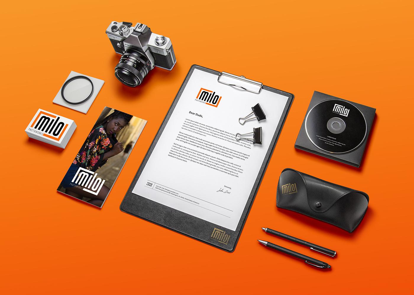 Photography ,Focus,logo,branding ,orange