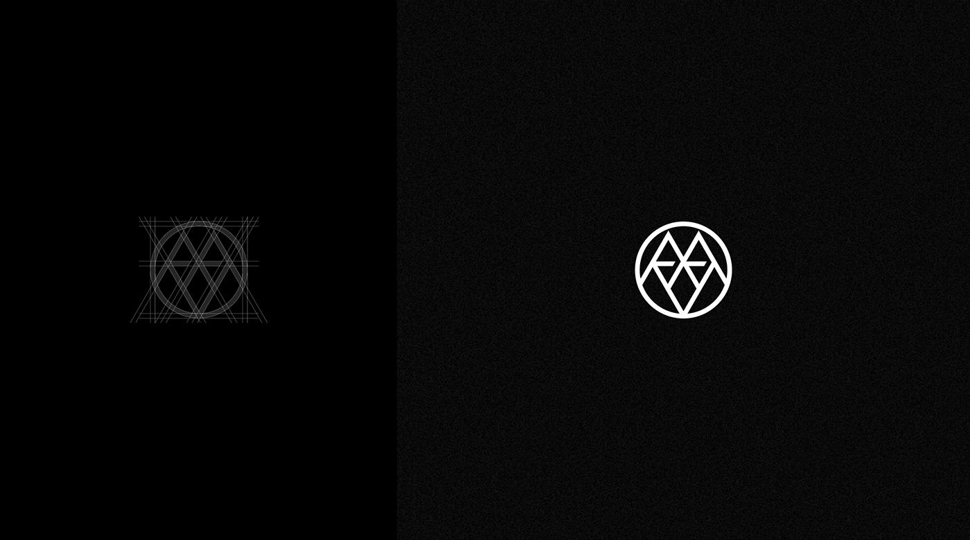 logo design Fashion  luxury branding  identity black minimal grid typography