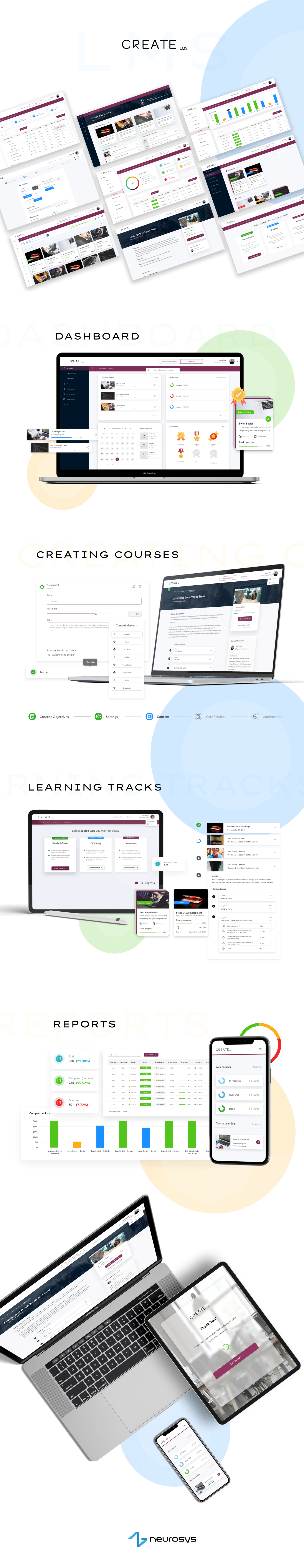 dashboard e-learning platform eLearning LMS NeuroSYS software house UI ux