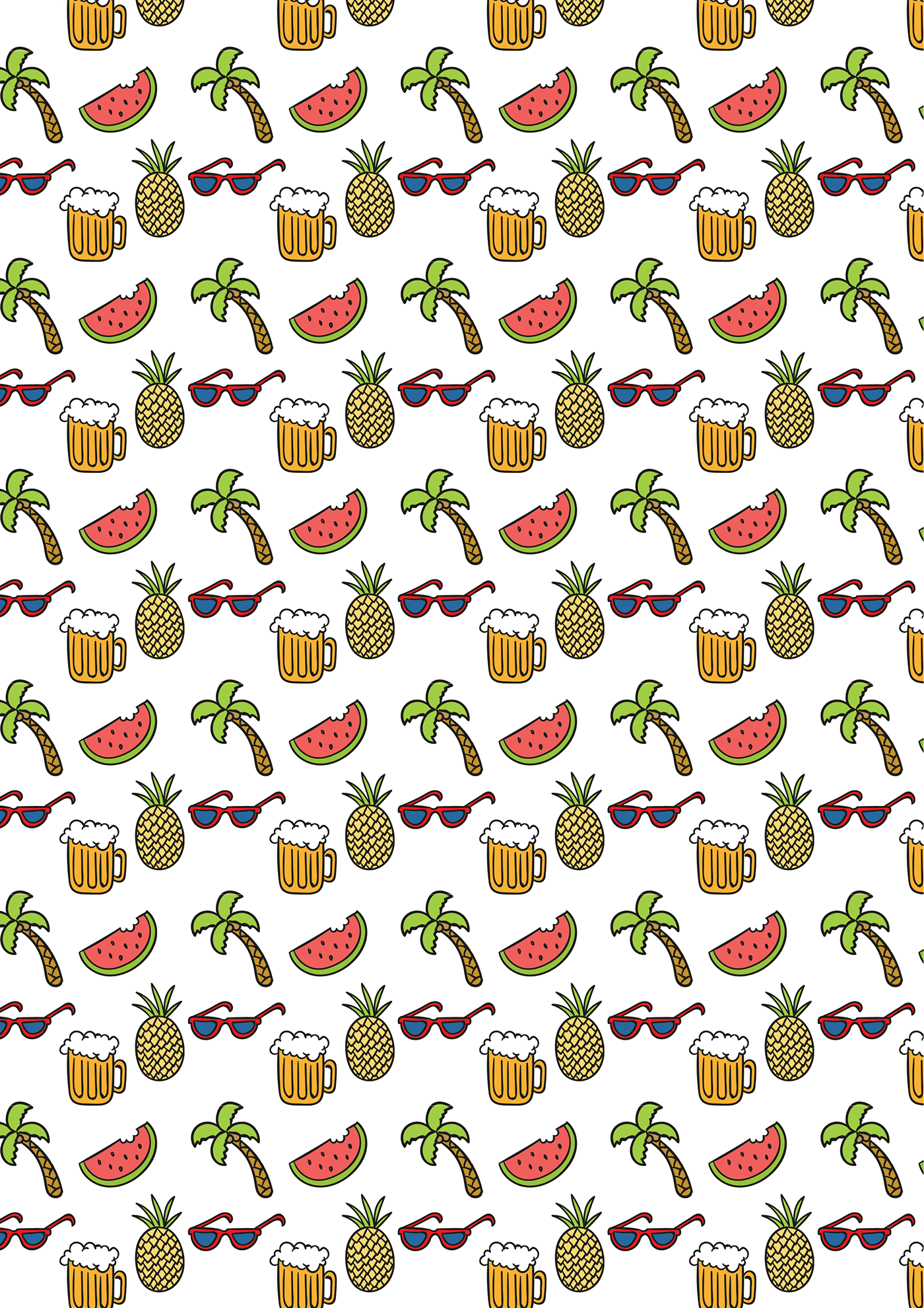Free Summer Party Wallpaper On Behance
