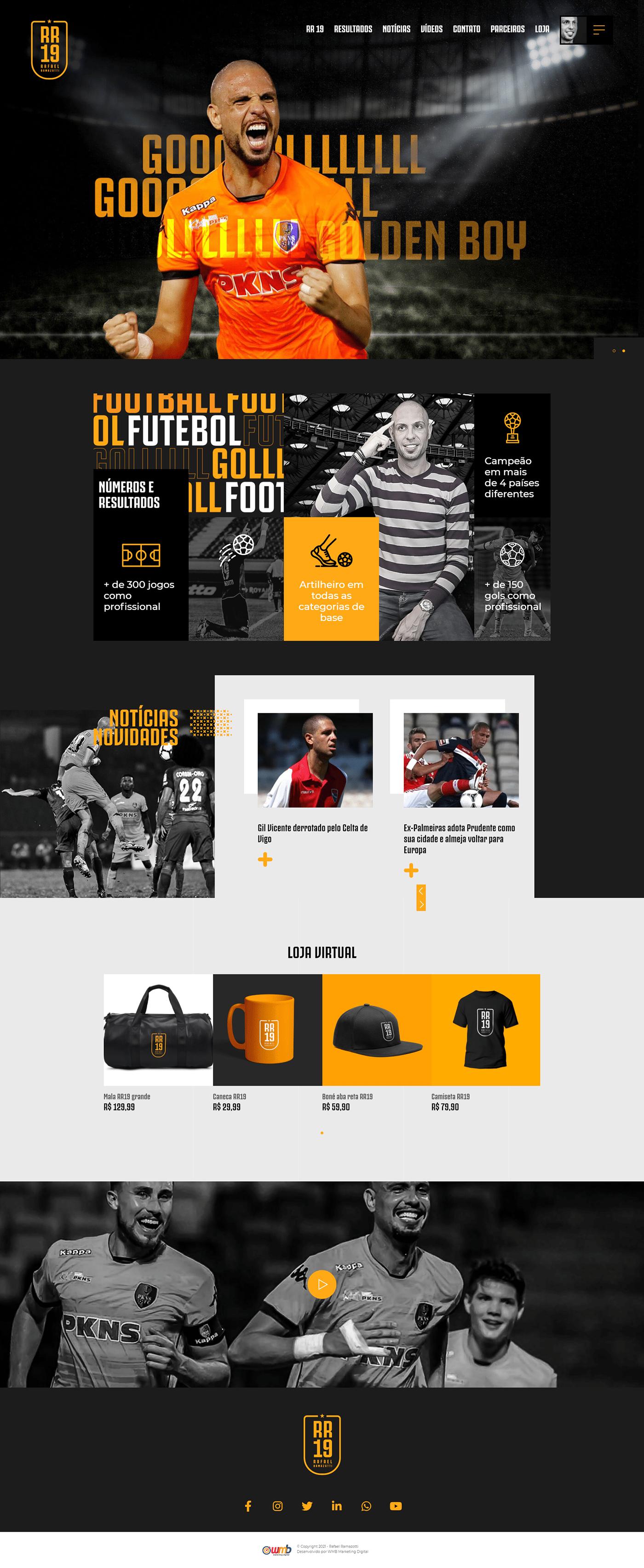futebol jogador marketing   site