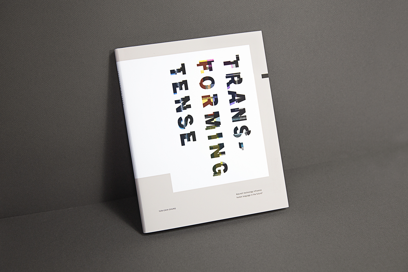 book cover language type media medium print transform Forms systems AAU future Layout Tense