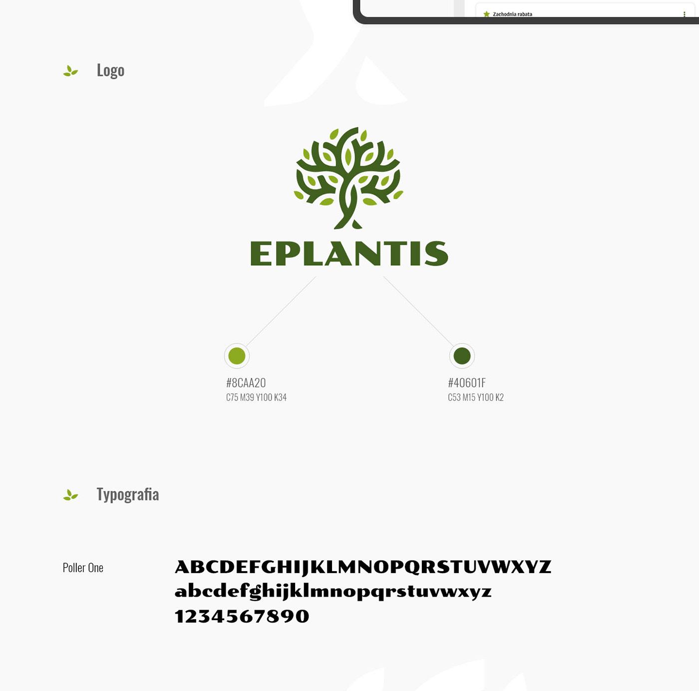 app garden logo Plant ux/ui Website xD