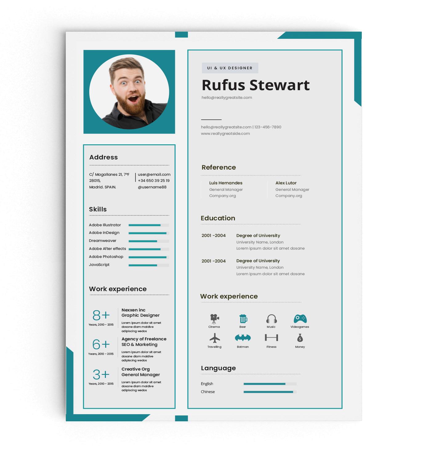 clean cv design elegant elegant resume female resume infographic resume