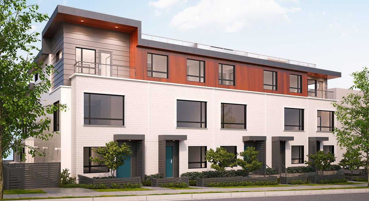 real estate development danish branding  identity vancouver Townhome
