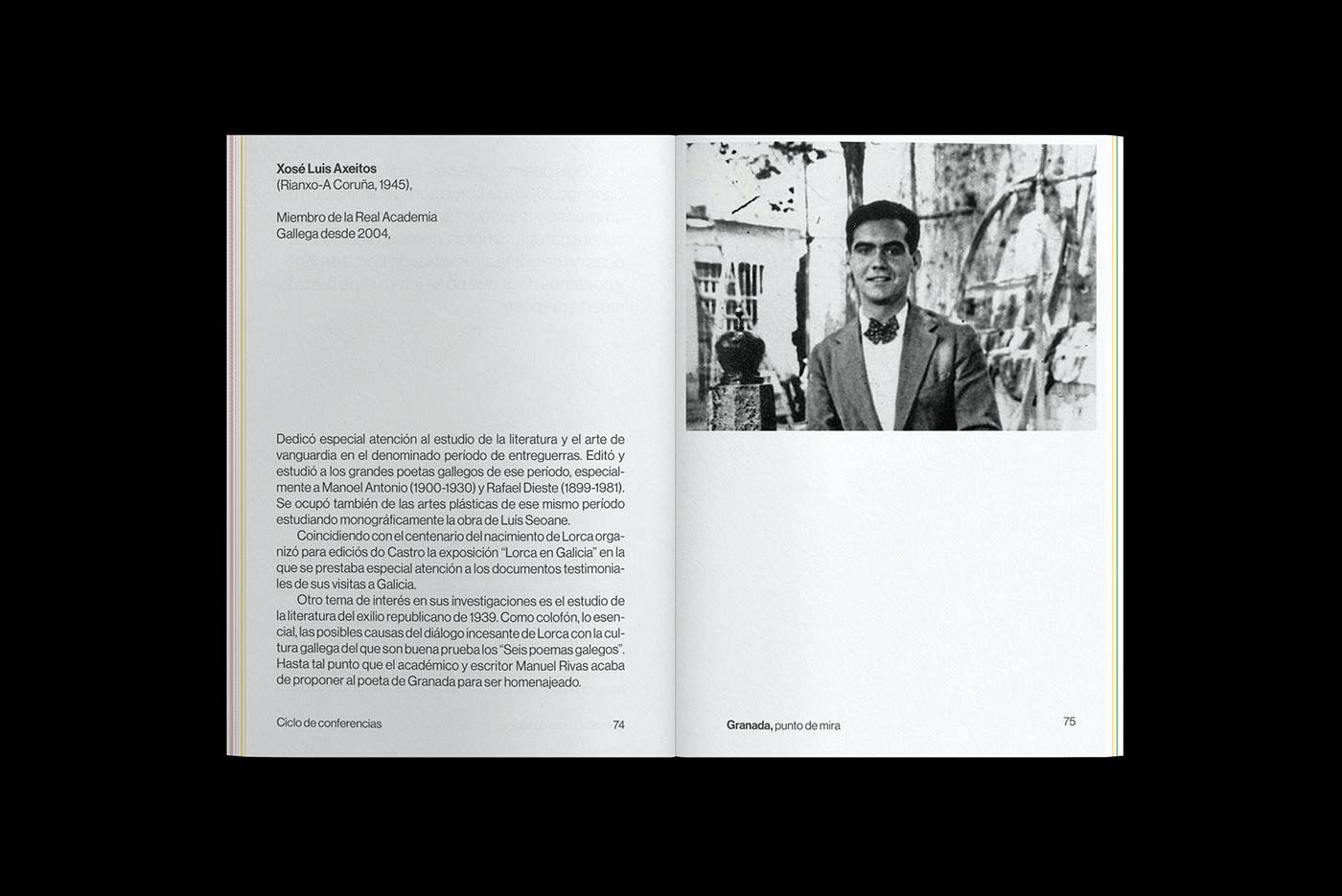 art Bellas artes Bookdesign conferences Federico Garcia Lorca granada identity museum Plácida placida design