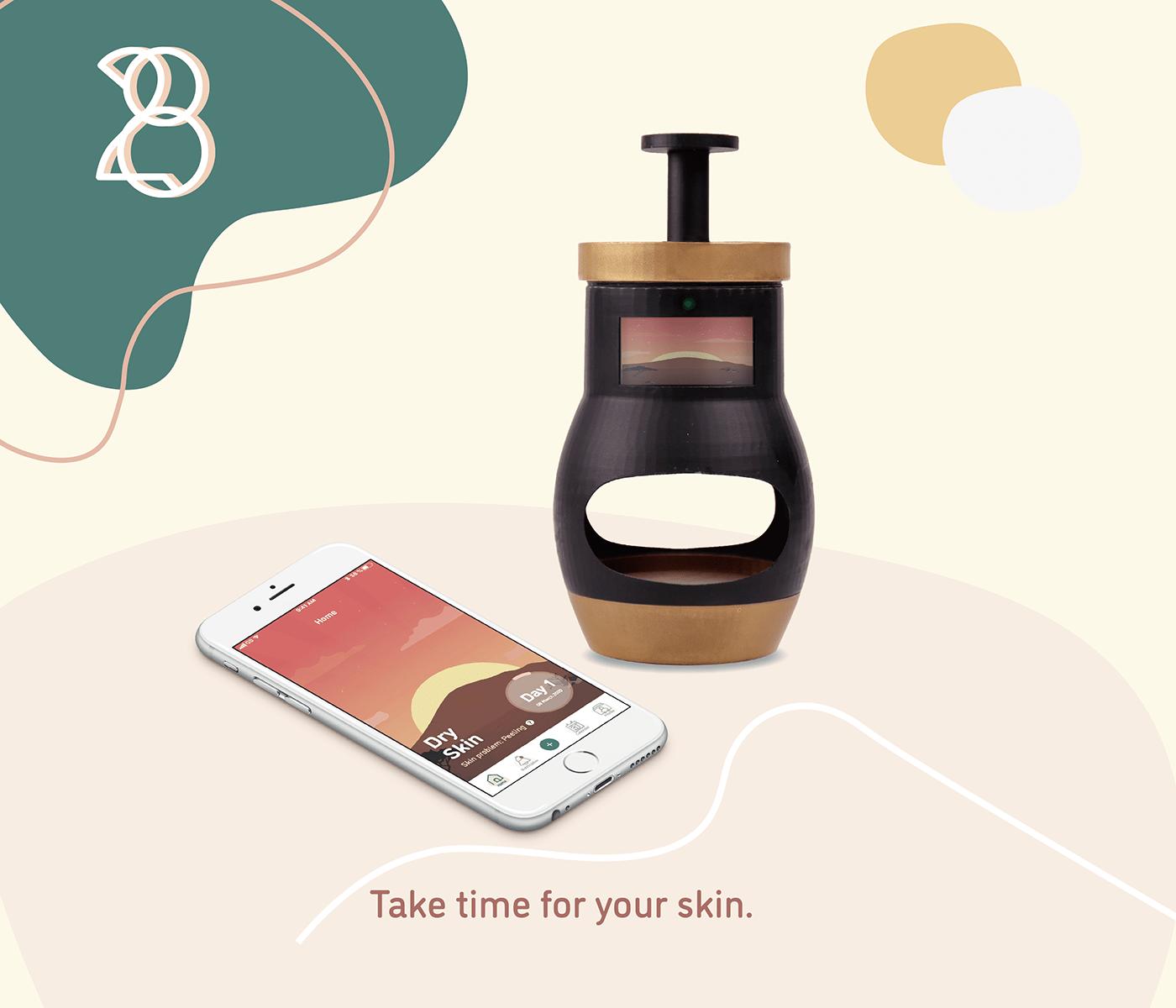 3dprinting beautyapp beautydevice BuildHabit interactivemedia PolyUDesignAnnualShow2020 productdesign skincare SkincareProblem uiuxdesign