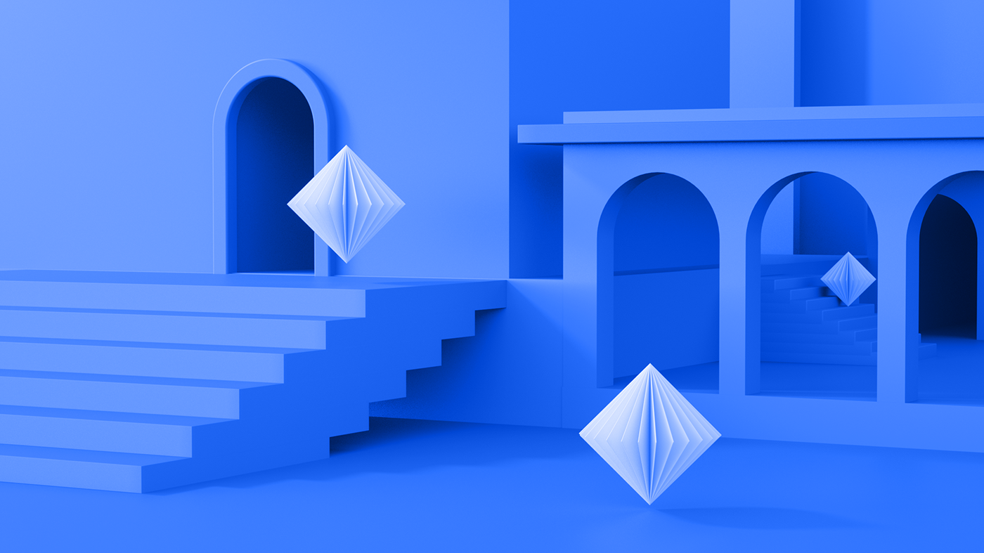 c4d design branding  identity brand Rebrand redesign logo CG three dimensional animation  motion blue crypto currency Web