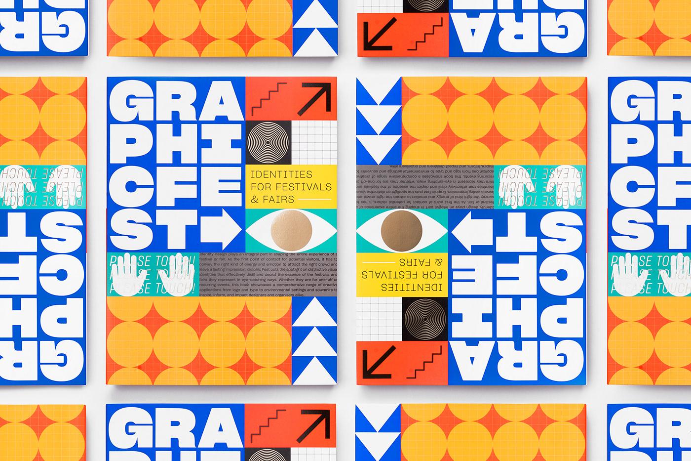 graphic festival branding  Event identity book design poster venue Fair fluorescent