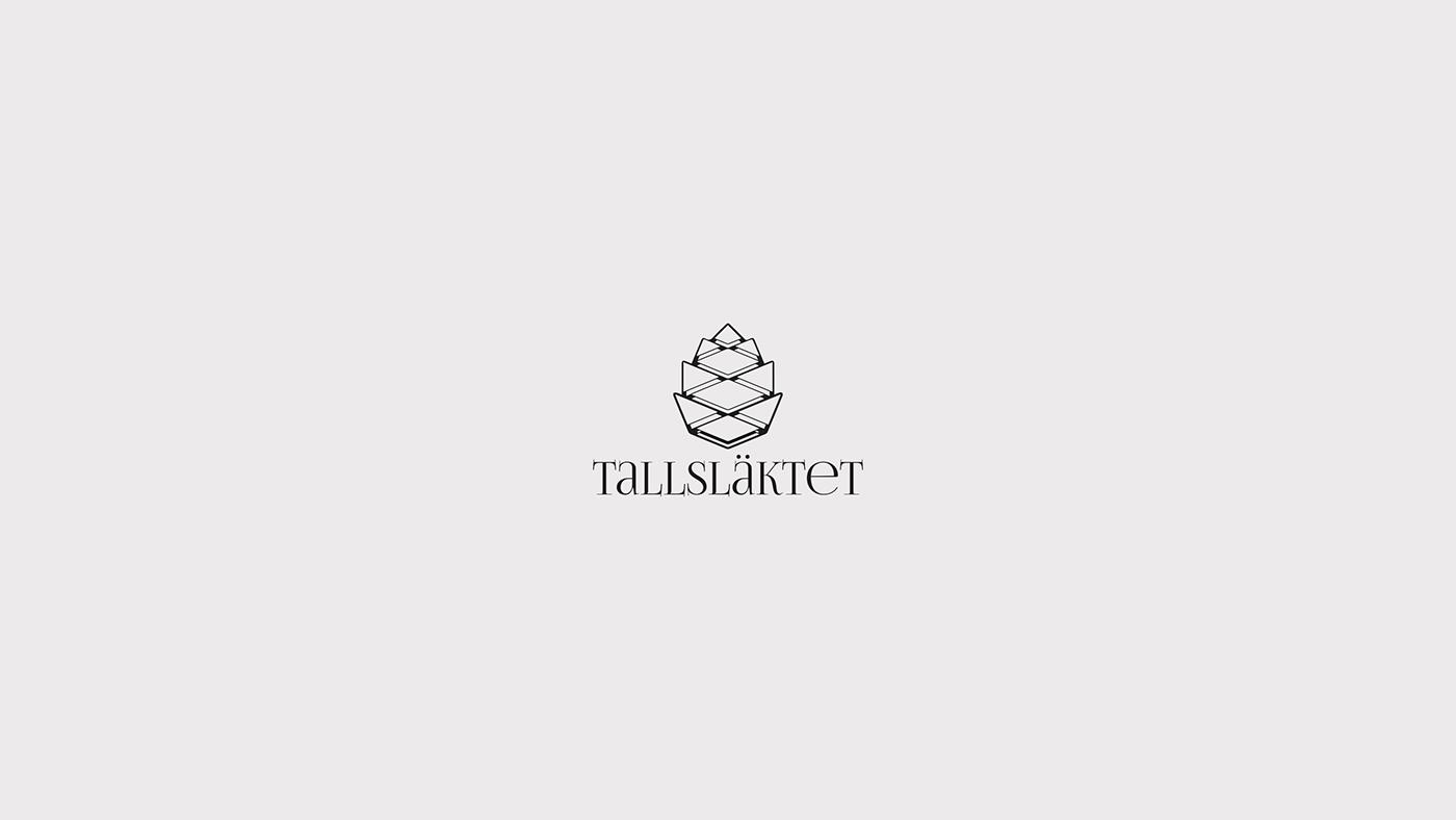 logo tallsläktet skellefteå  historia Utbildning medvetenhet graphic design  Identity Design graphic identity grafisk design