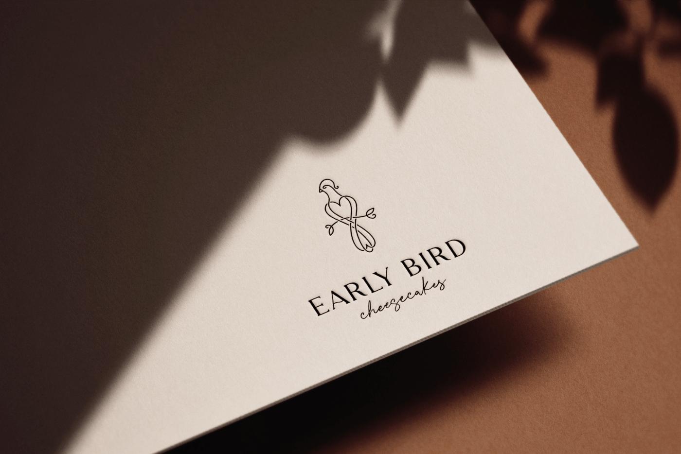 animation  bird business card cake cheesecakes Food  line logo Logotype motion