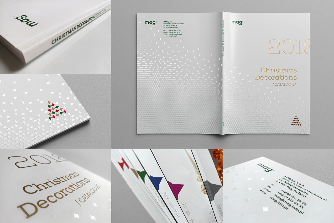 branding  Christmas decoration design graphic identity logo merry rebranding redesign