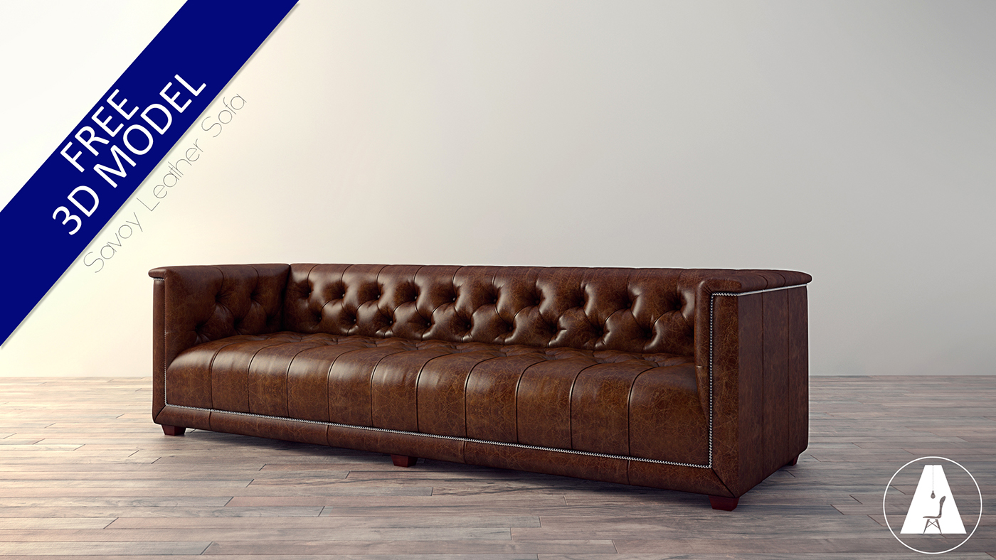 Free 3D Model  Savoy Leather Sofa On Behance