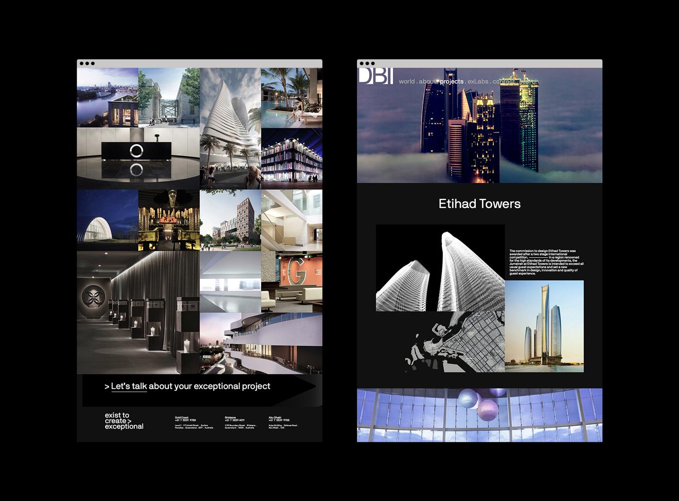 Website digital design architects typography