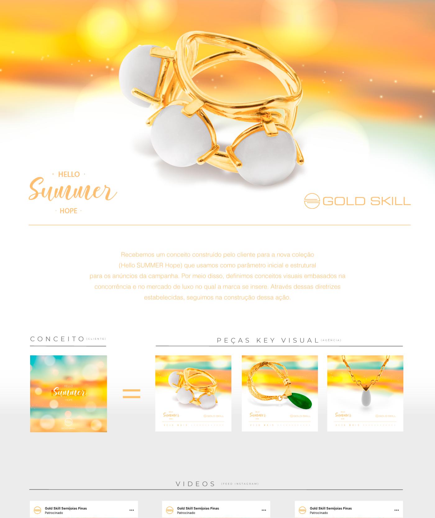 campanha Dark Post digital Fashion  gold skill luxo motion semi joia video webfuel