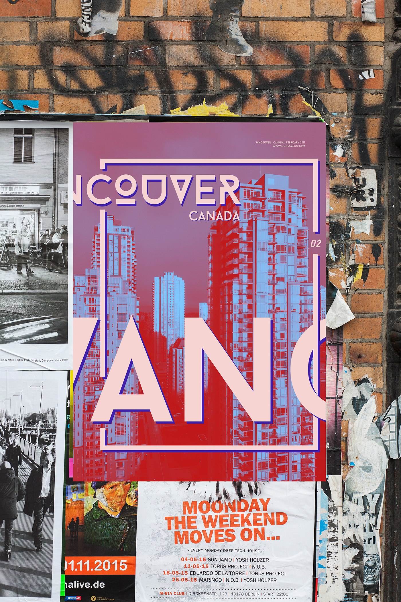 graphic design  Duotone typography   Photography  City Series poster