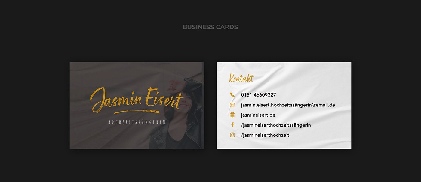 Weddingsinger // Business Cards