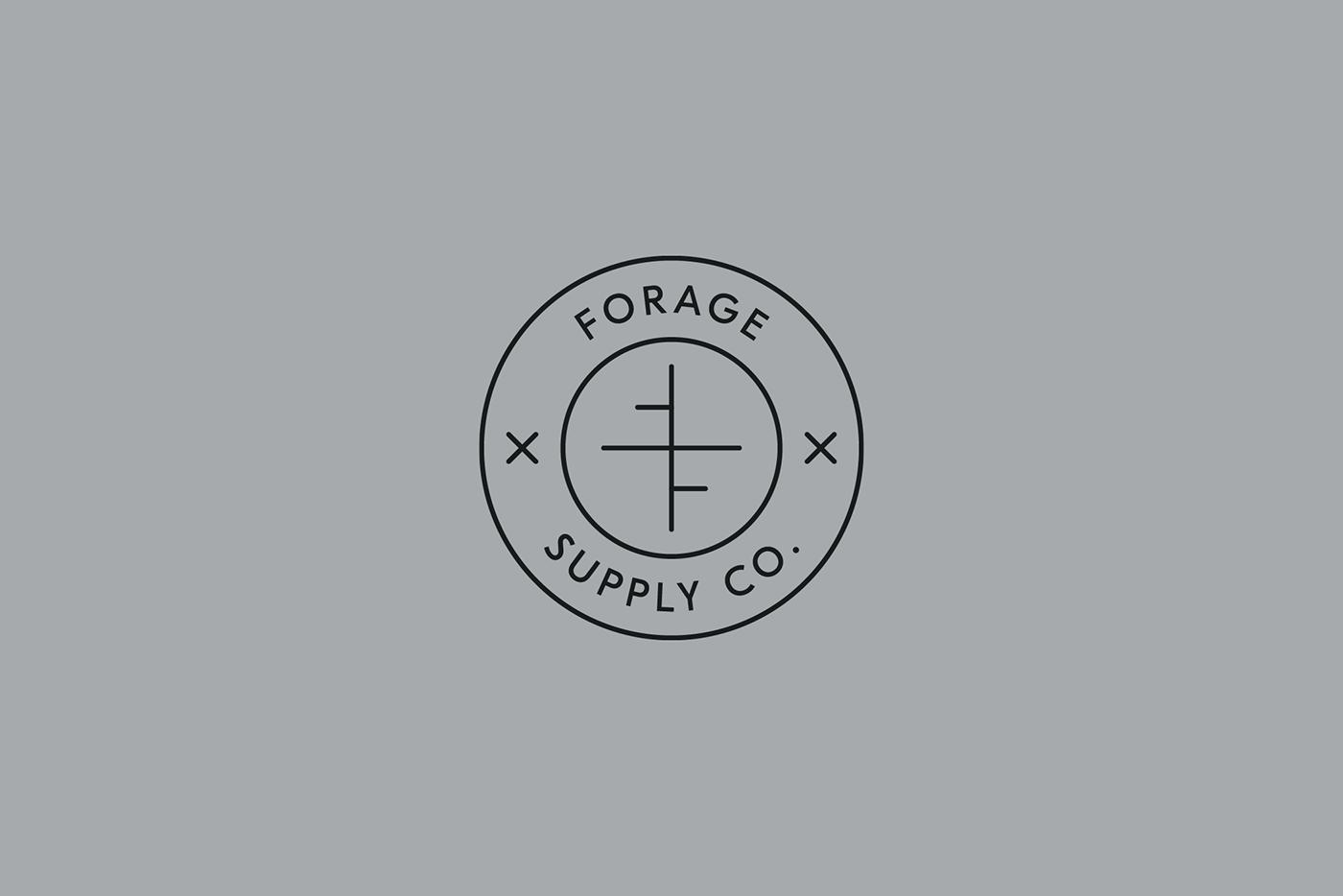 minimal clean forage Neutral eesti Food  wine logo branding  modern