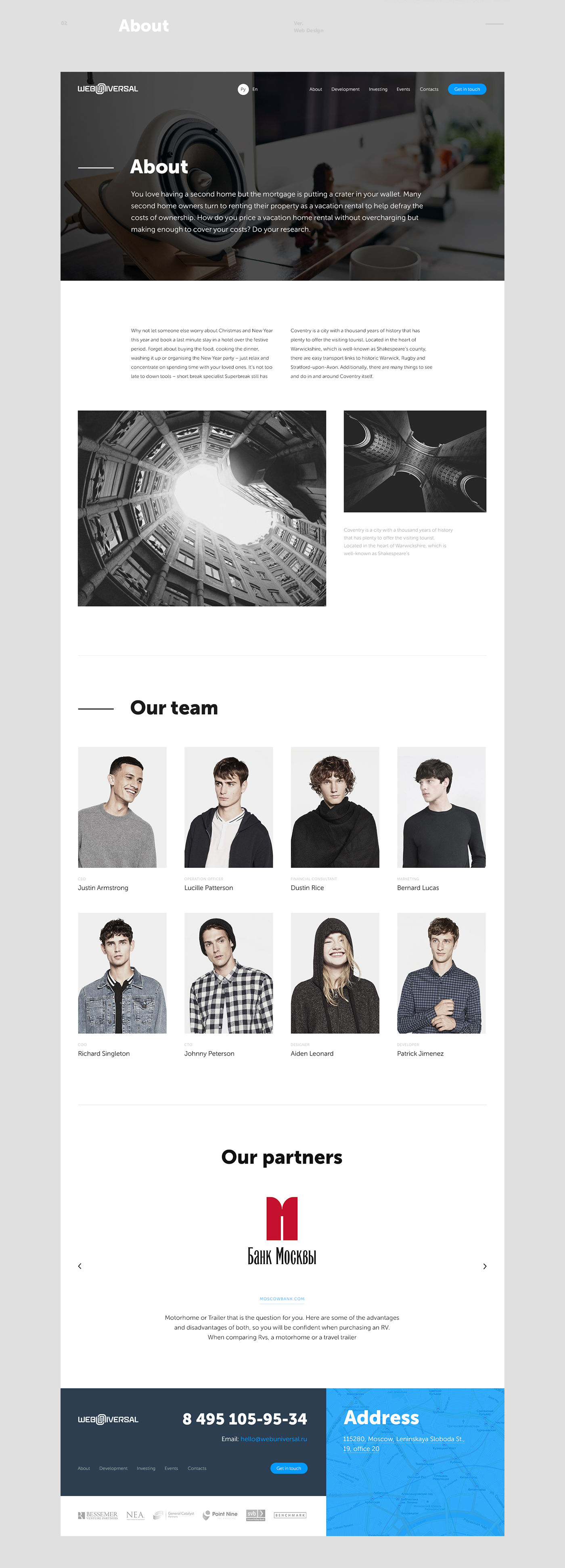 Webdesign Website Web portfolio agency investing development