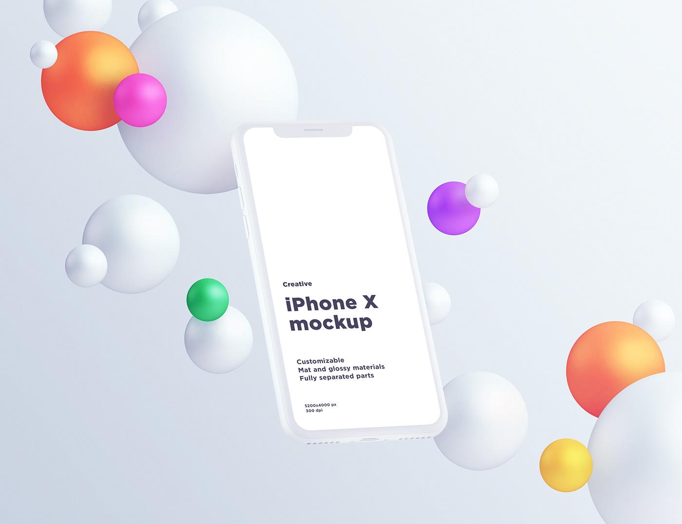 iphone Mockup sphere round free freebies psd mock-up photoshop ui design