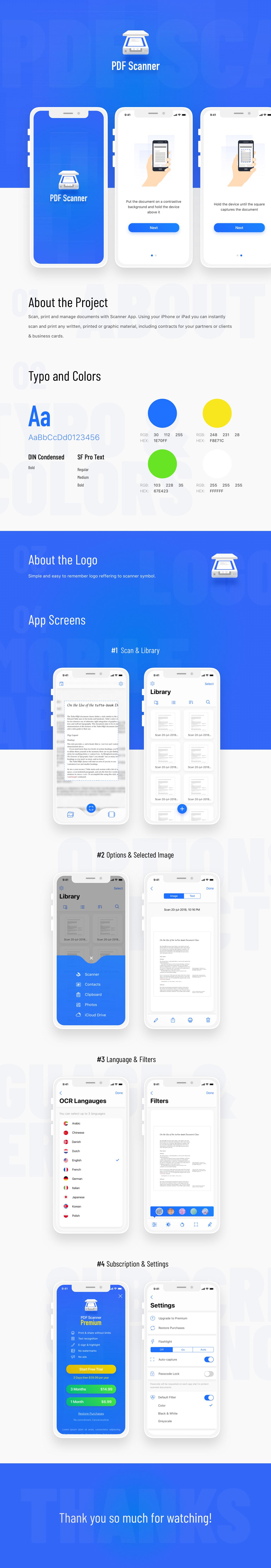 iOS App Mobile app scanner app ui design UX design app design iphone app branding