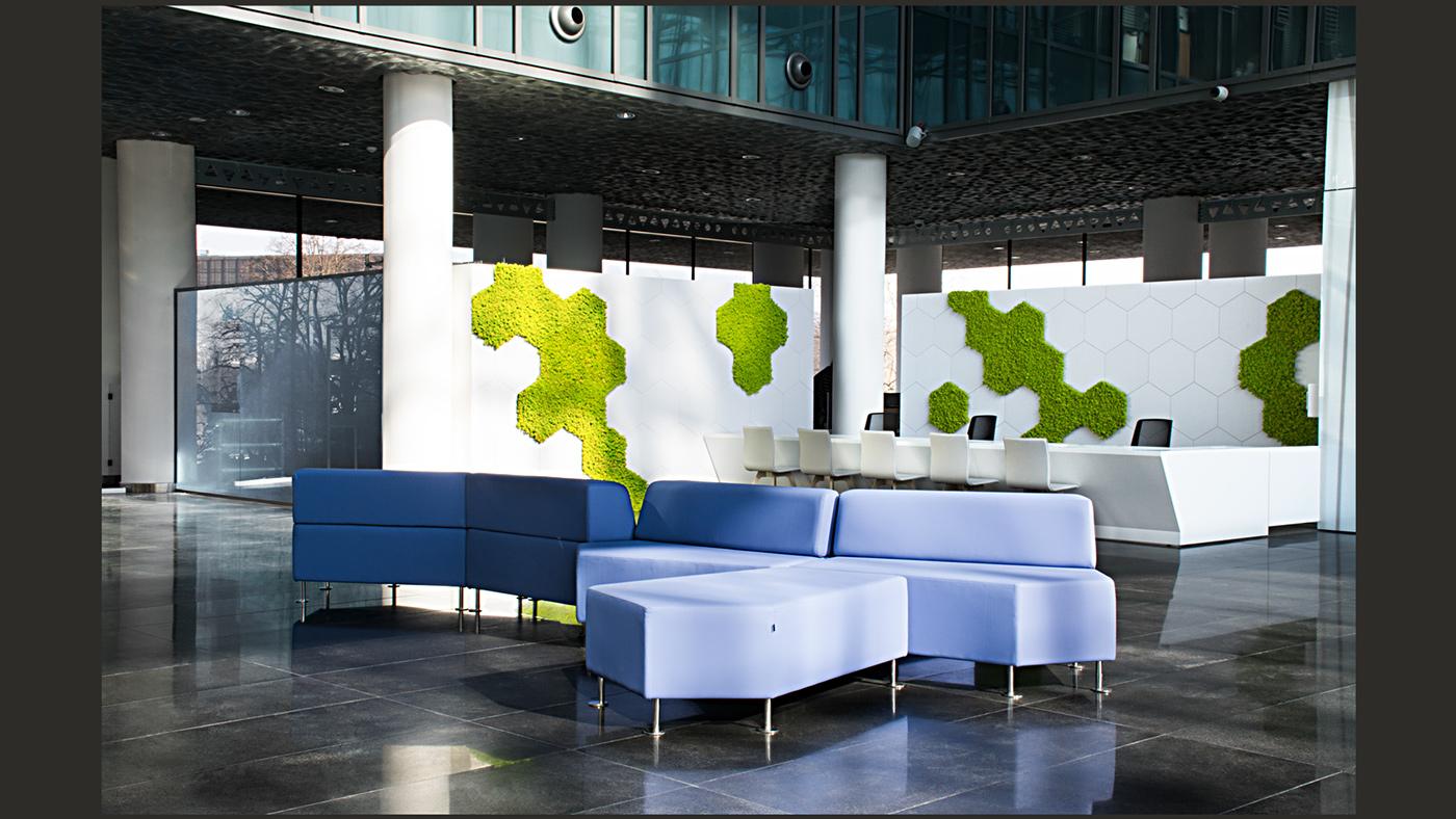 Office public space vertical garden PRZESTRZENIE BIUROWE biuro obsługi klienta obsługa funduszy unijnych