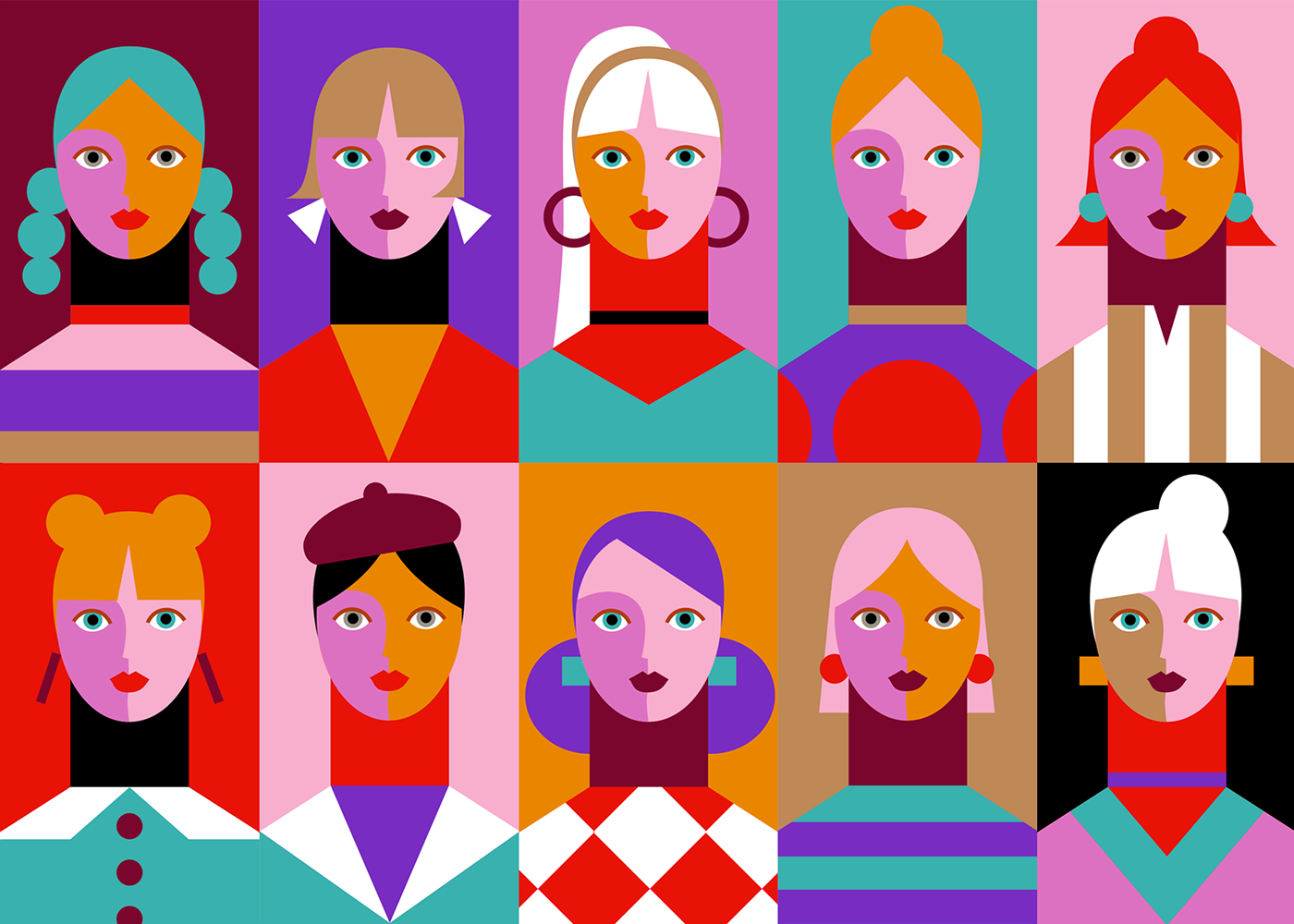 girl girls color Character face Fashion