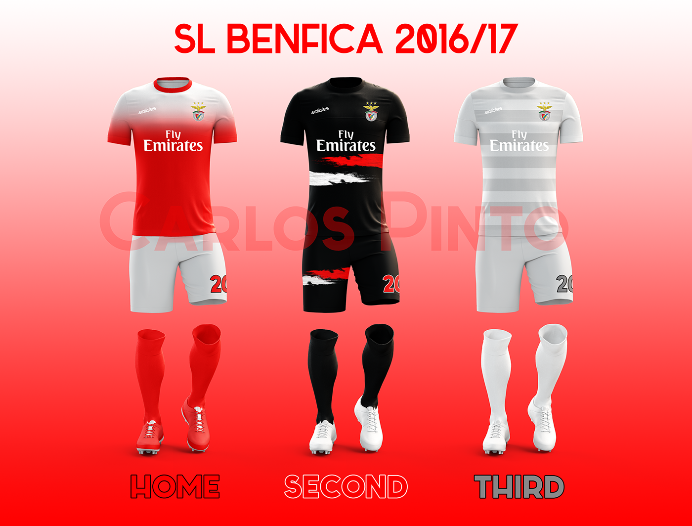 online retailer 91aba 68706 SL BENFICA 2016/17 Football Kits on Behance