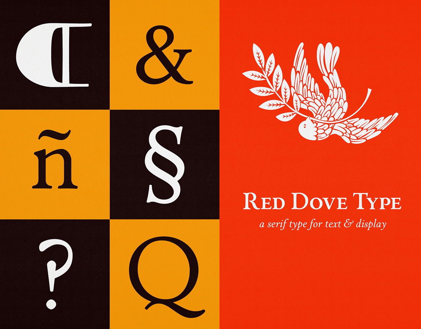 Red Dove Type Serif Typeface: Cover