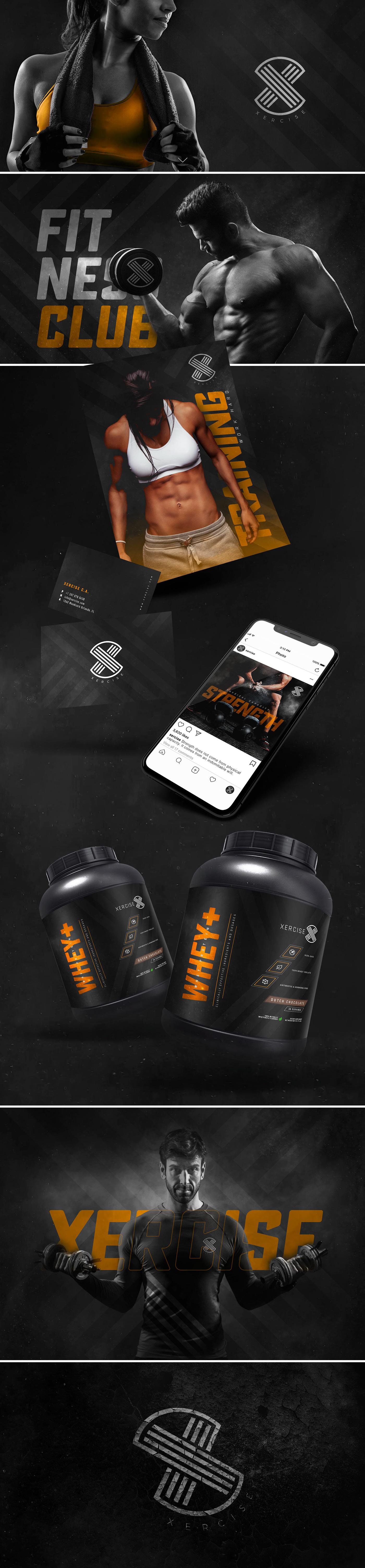 fitness sport design logo